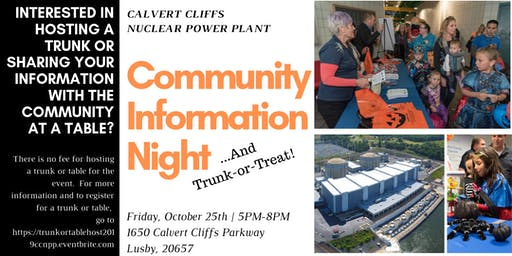 Host a Trunk or Table for the 10/25/2019 CCNPP Trunk-or-Treat and CIN!