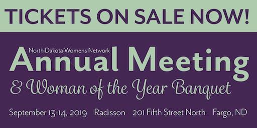 2019 NDWN Annual Meeting & Woman of the Year