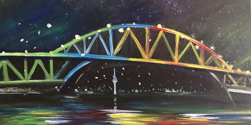 Chill & Paint Night @ Auckland City Hotel  -  Auckland Harbour Bridge