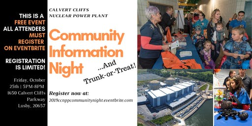 2019 CCNPP Trunk-or-Treat and Community Info Night!