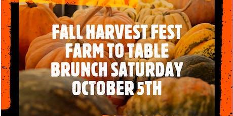 Fayetteville Farmers' Market Fall Harvest Fest FUNd Rasier- Farm to Table Brunch  tickets