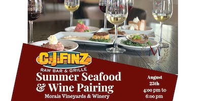 Morais Vineyards & Winery Summer Seafood & Wine Pairing
