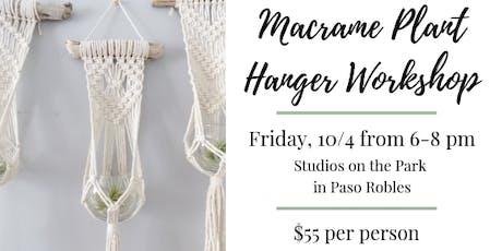 Macrame Plant Hanger Workshop @ Studios on the Park tickets