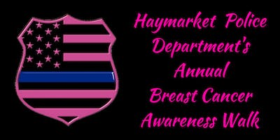 Haymarket Police Annual Breast Cancer Walk