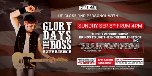 Glory Days -The Boss Experience Bruce Springsteen Tribute LIVE at Publican!