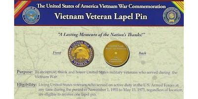 Vietnam Veterans Memorial Wall Reading and Pinning Ceremony