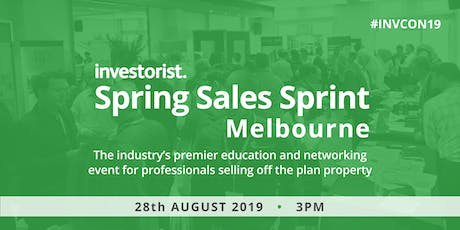 Investorist Spring Sales Sprint events | Melbourne  tickets