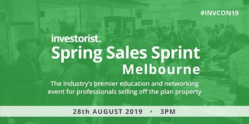 Investorist Spring Sales Sprint events | Melbourne