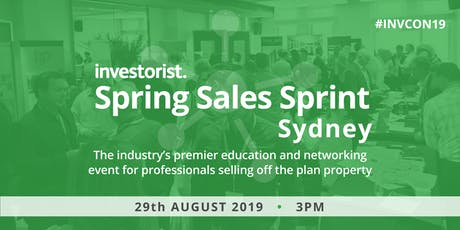 Investorist Spring Sales Sprint events | Sydney tickets
