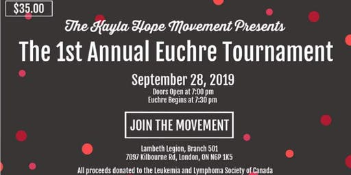 The Kayla Hope Movement's 1st Annual Euchre Tourna