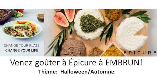 Venez goûter Epicure - thème Halloween/Automne - Embrun