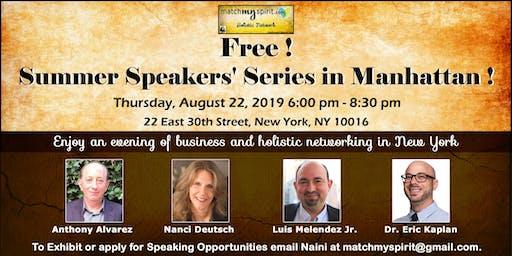 Free ! Summer Speakers' Series in Manhattan !