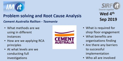 VICTAS Problem solving and Root Cause Analysis - Cement Australia Railton