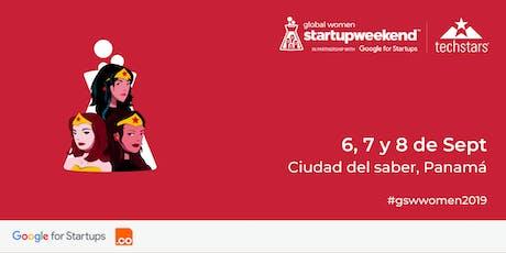 Techstars Global Startup Weekend Ciudad de Panama Women boletos