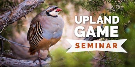 Upland Game Hunting Seminar tickets