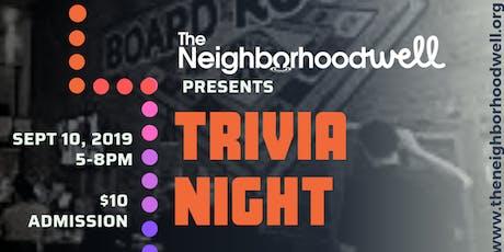 Trivia Night - Fundraiser tickets