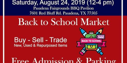 Back 2 School Market at Pasadena Trade Days