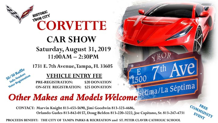Historic Ybor City Corvette Car Show - Event is free to the public