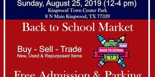 Back 2 School Market at Kingwood Trade Days
