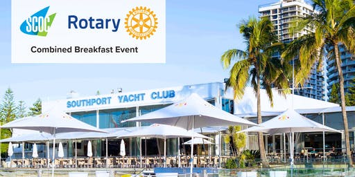 """Connecting the Community"",  Rotary International and Southport Chamber of Commerce - a combined breakfast meeting."