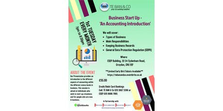 Business Start Up - 'An Accounting Introduction' tickets
