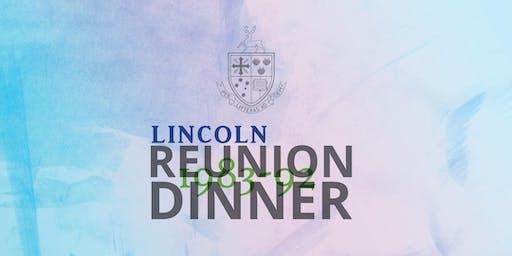 1983-1992 Reunion Dinner
