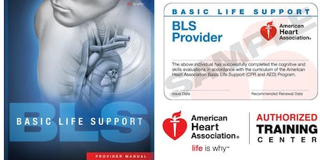 Dept of PT Basic Life Support For Healthcare Providers CPR/AED  tickets