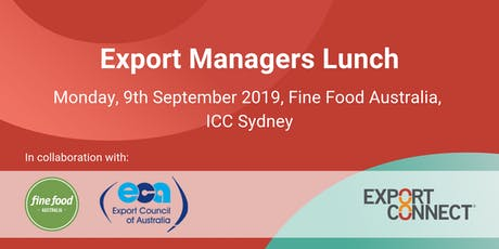 Export Managers Lunch  tickets