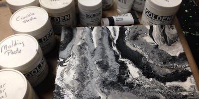 Acrylic Mediums Exploration-Saturday Sept 28, 10am-1pm