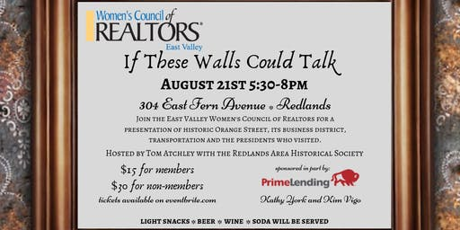 If These Walls Could Talk - Women's Council of Realtors - East Valley