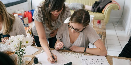 Beginner Modern Calligraphy Workshop with Brown Fox Calligraphy | Melbourne