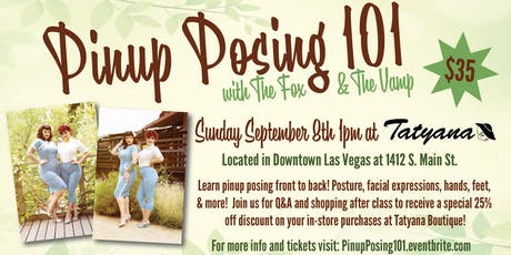 Pinup Posing 101 tickets