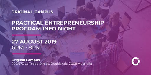 Practical Entrepreneurship Info Night