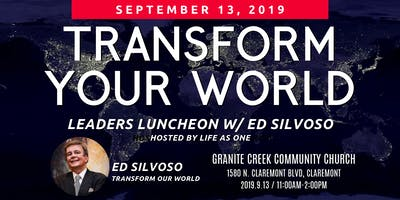 Transform Your World Leaders Luncheon with Ed Silvoso