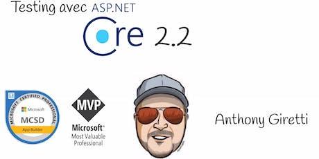 Testing dans ASP.NET Core 2.2 tickets