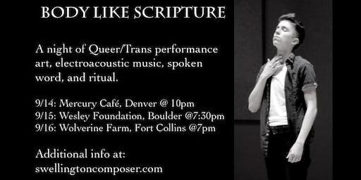 Body Like Scripture - Boulder