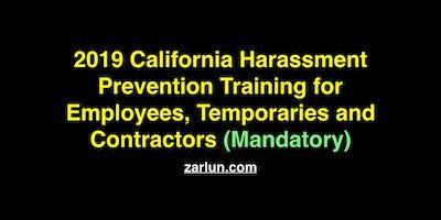 2019 California Harassment Prevention for Employees BF