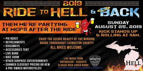 2019 RIDE TO HELL & BACK - MOTORCITY POWER SPORTS tickets