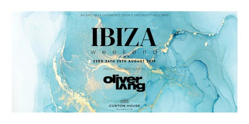 Oliver Lang at Custom House Plymouth's Ibiza Weekend