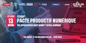 ANNULÉ [Atelier – Pacte productif numérique, avec le...
