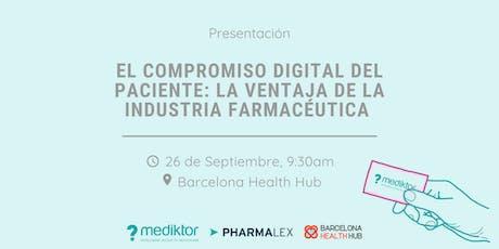 El compromiso digital del paciente: La ventaja de la industria farmacéutica tickets