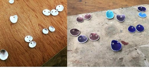 Transparent enamels and recycled silver