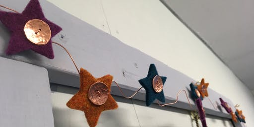 Felt and Copper Garland Making