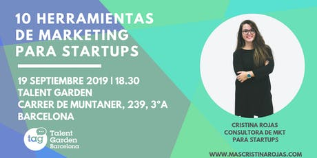 10 HERRAMIENTAS DE MARKETING PARA STARTUPS biglietti