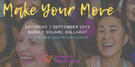Make Your Move Ballarat - a women's health week event tickets