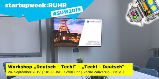 "Workshop ""Deutsch – Techi"" – ""Techi – Deutsch"""