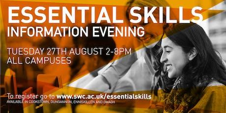 Essential Skills Information Evening tickets