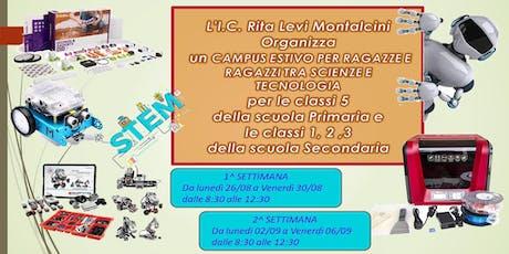 """Campi estivi """"In estate si imparano le Stem"""" 2 edizione biglietti"""