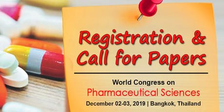World congress on Pharmaceutical Sciences tickets