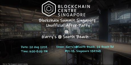 Blockchain Summit Singapore Unofficial After-Party  tickets